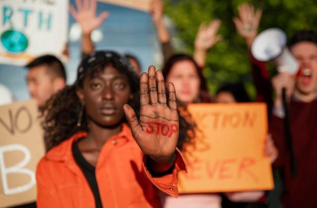 Communauté protestant ensemble close up