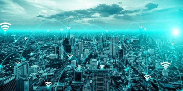 Communication avancée et connexion au réseau internet mondial dans la ville intelligente