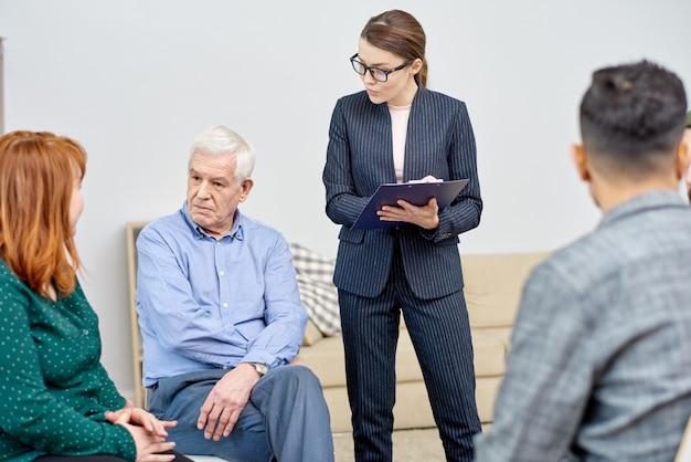 Communication des participants à la thérapie de groupe