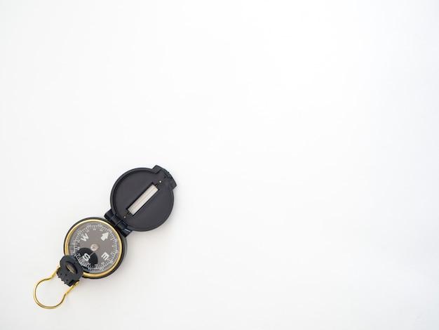 Compas militaire noir isolé sur blanc