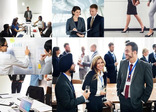 Compilation d'images thématiques d'entreprise