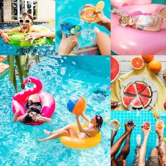 Compilation d'images de vacances d'été
