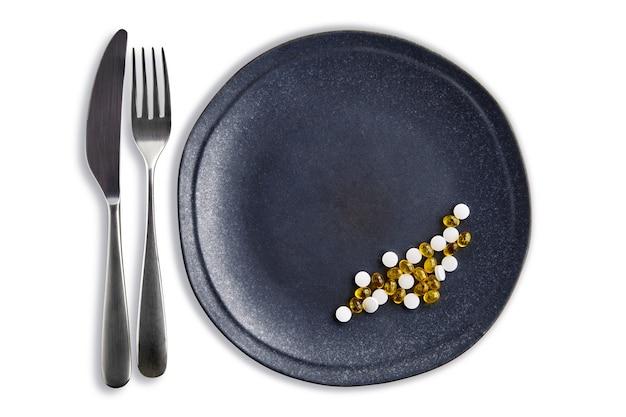 Compléments alimentaires et minéraux sous forme de comprimés et de pilules