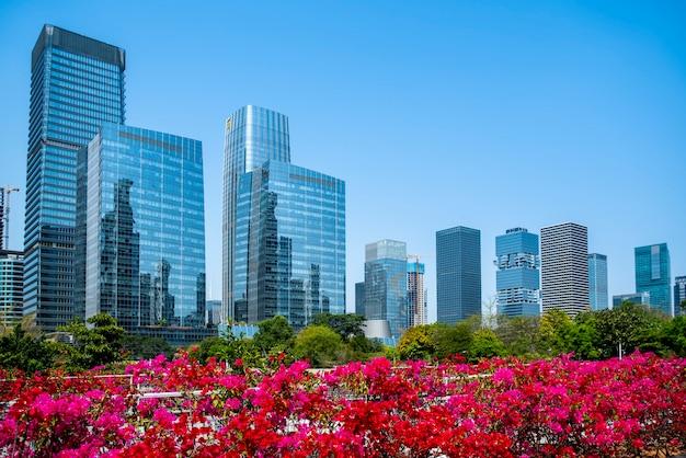 Complexe architectural moderne urbain
