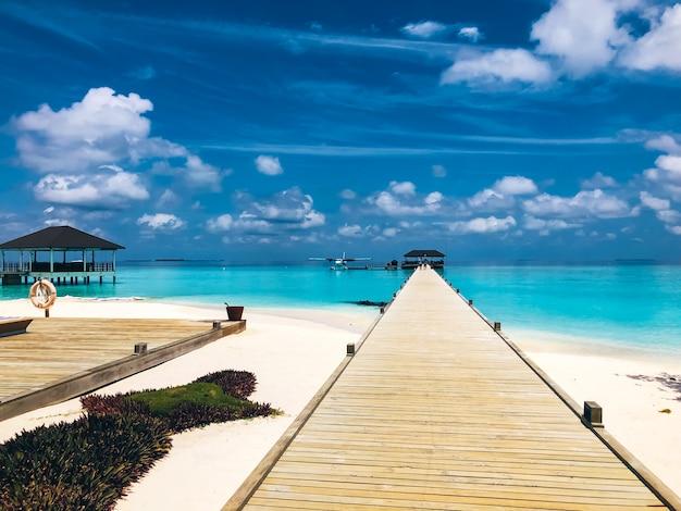 Complexe de luxe aux îles maldives