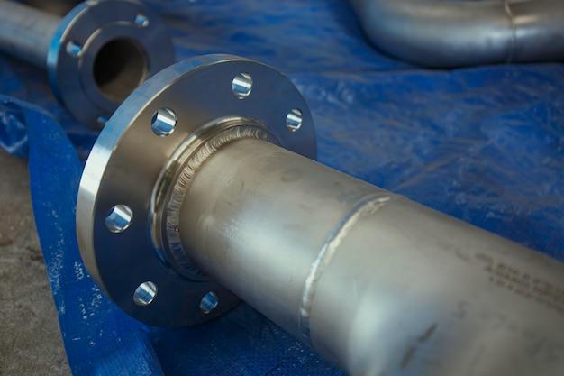 Composant de vanne à bride de tuyauterie en acier inoxydable gtaw tig fabrication de récipients sous pression à joint soudé