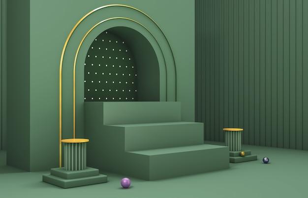 Composition 3d abstraite. fond de noël d'hiver pour la présentation du produit.