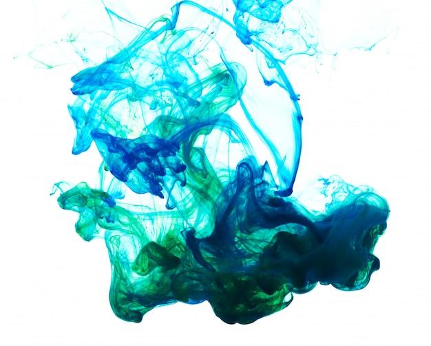 Composition abstraite d'encre mixte