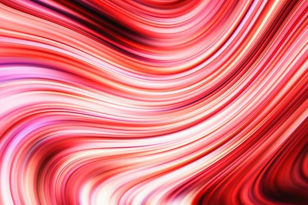 Composition abstraite rouge et blanc
