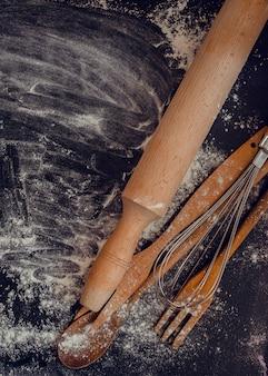 Composition des accessoires de cuisson et de cuisine