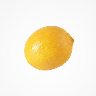 Composition d'agrumes de fruits. isolat de citron unique et sain sur fond de studio vierge.