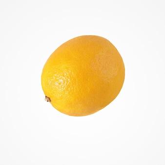Composition d'agrumes de fruits. isoler le jus de citron coloré sur fond de studio blanc.