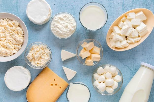 Composition des aliments avec des produits laitiers