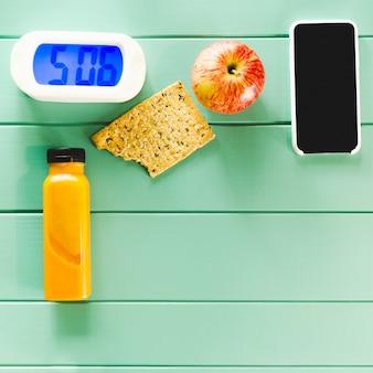 Composition d'aliments sains avec alarme