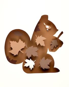Composition d'automne dans un style papier