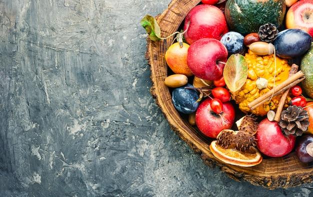 Composition d'automne de fruits