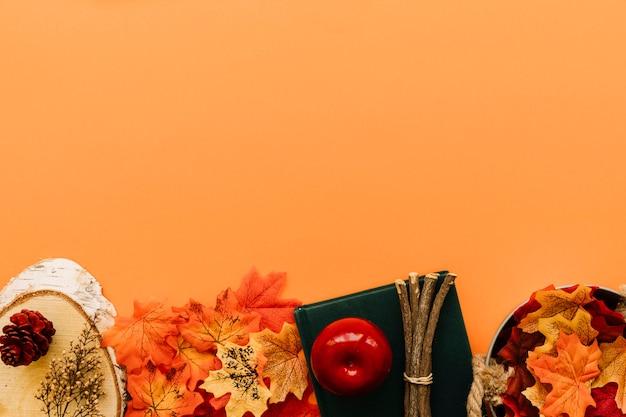 Composition de l'automne lumineux sur orange