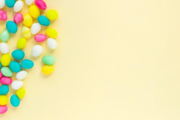 Composition de bonbons colorés