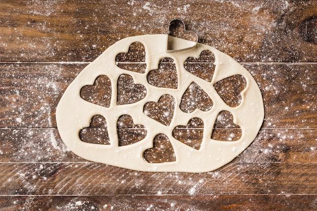 Composition de boulangerie avec de la pâte