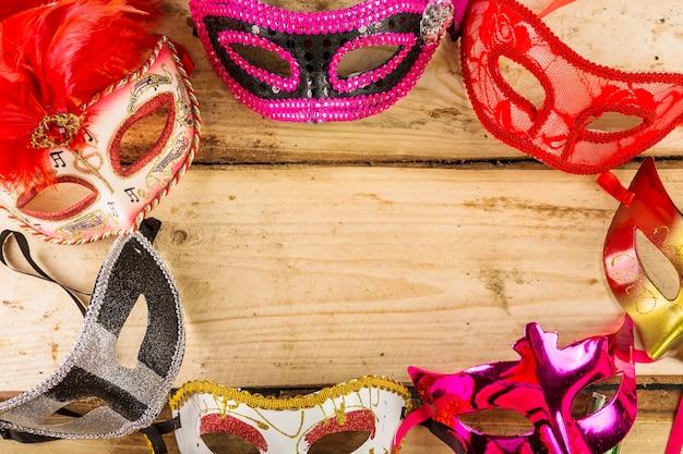 Composition de carnaval vénitien élégant