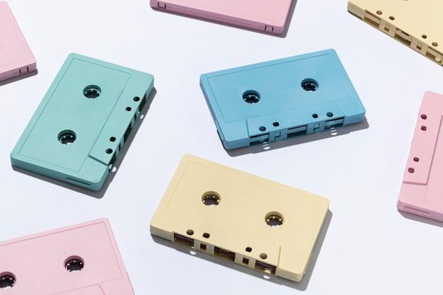 Composition avec cassettes vintage