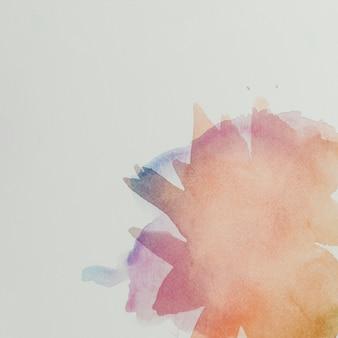 Composition colorée avec des coups de pinceau aquarelle