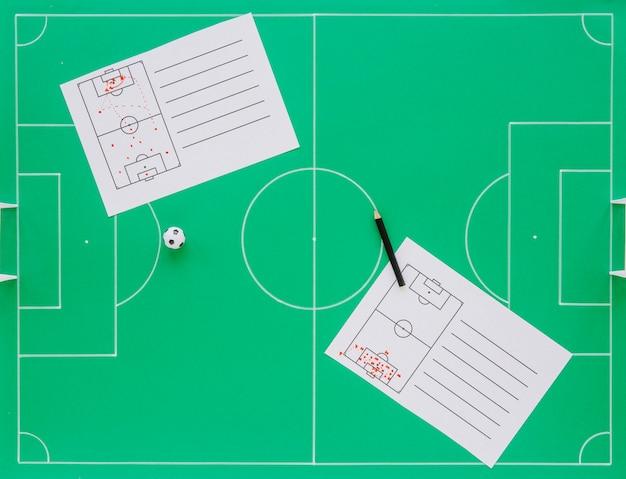 Composition de concept de football