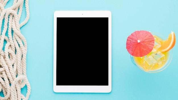Composition de corde pour tablette et boisson à l'orange