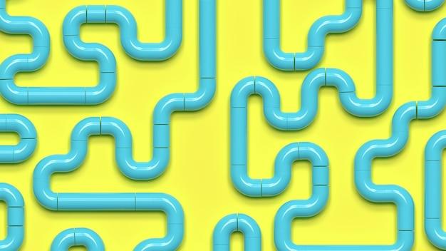 Composition de couleur de fond de rendu 3d des tuyaux