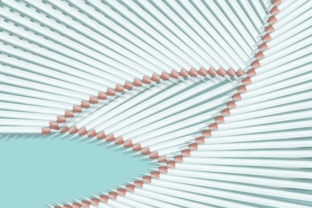 Composition de crayons de couleur bleu clair pastel