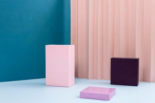 Composition créative du podium minimaliste