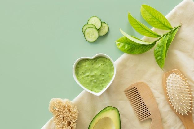Composition de la crème de concombre traitement spa