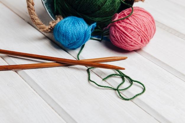 Composition décorative de la laine
