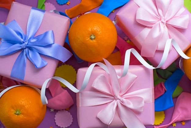 Composition décorative trois boîtes
