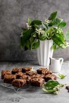 Composition de délicieux dessert maison