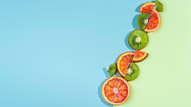 Composition de délicieux fruits frais
