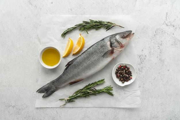 Composition de délicieux fruits de mer