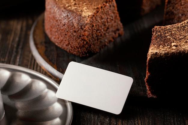Composition de délicieux gâteau au chocolat