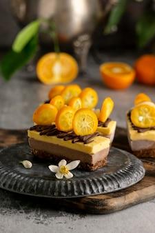 Composition de délicieux gâteaux faits maison
