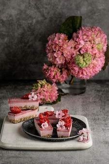 Composition de délicieux goodies sucrés