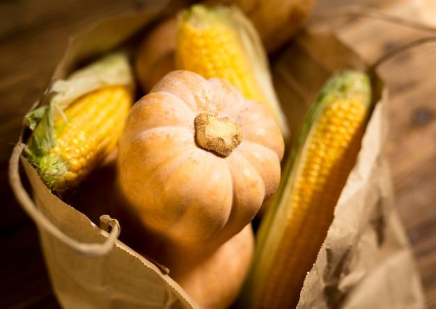 Composition de délicieux légumes d'automne