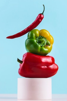 Composition de délicieux légumes frais