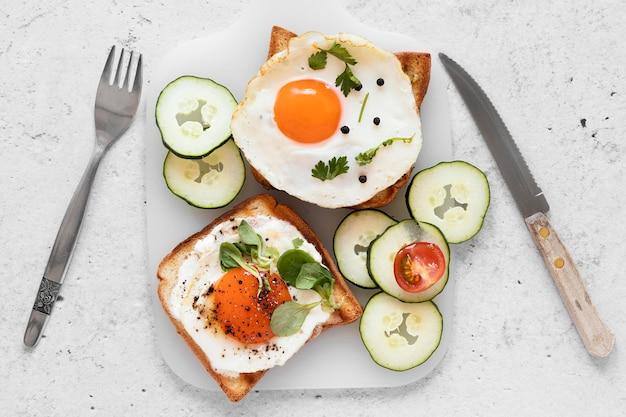Composition de délicieux sandwichs