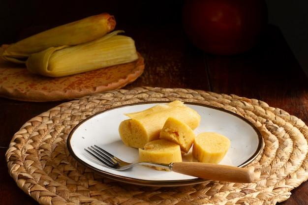 Composition de délicieux tamales traditionnels