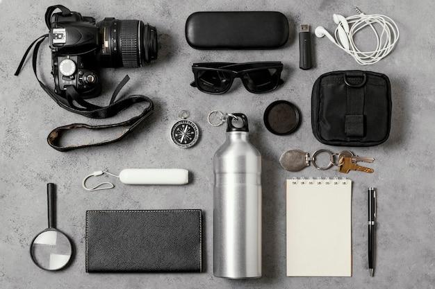 Composition de différents éléments de voyage
