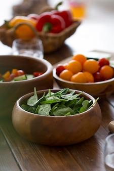 Composition de différents ingrédients délicieux
