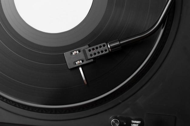 Composition de disque vinyle vue de dessus