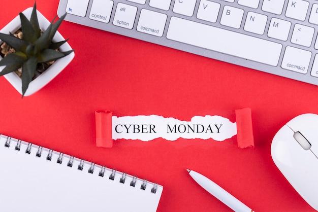 Composition du cyber lundi à plat