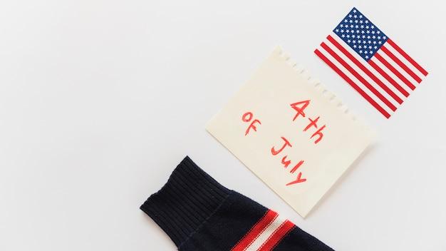 Composition du jour de l'indépendance de l'amérique
