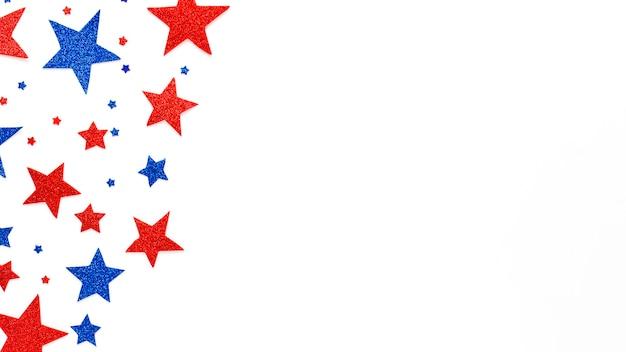 Composition du jour de l'indépendance des états-unis avec copyspace et étoiles